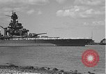Image of USS Colorado (BB-45) maneuvering to Berth F-12A Pearl Harbor Hawaii USA, 1942, second 3 stock footage video 65675061843