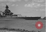 Image of USS Colorado (BB-45) maneuvering to Berth F-12A Pearl Harbor Hawaii USA, 1942, second 4 stock footage video 65675061843