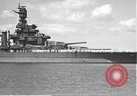 Image of USS Colorado (BB-45) maneuvering to Berth F-12A Pearl Harbor Hawaii USA, 1942, second 14 stock footage video 65675061843