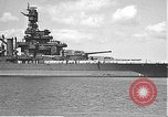 Image of USS Colorado (BB-45) maneuvering to Berth F-12A Pearl Harbor Hawaii USA, 1942, second 15 stock footage video 65675061843