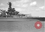 Image of USS Colorado (BB-45) maneuvering to Berth F-12A Pearl Harbor Hawaii USA, 1942, second 16 stock footage video 65675061843