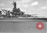 Image of USS Colorado (BB-45) maneuvering to Berth F-12A Pearl Harbor Hawaii USA, 1942, second 19 stock footage video 65675061843