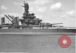 Image of USS Colorado (BB-45) maneuvering to Berth F-12A Pearl Harbor Hawaii USA, 1942, second 20 stock footage video 65675061843