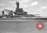 Image of USS Colorado (BB-45) maneuvering to Berth F-12A Pearl Harbor Hawaii USA, 1942, second 21 stock footage video 65675061843