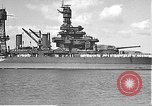 Image of USS Colorado (BB-45) maneuvering to Berth F-12A Pearl Harbor Hawaii USA, 1942, second 23 stock footage video 65675061843