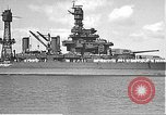 Image of USS Colorado (BB-45) maneuvering to Berth F-12A Pearl Harbor Hawaii USA, 1942, second 24 stock footage video 65675061843
