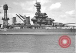 Image of USS Colorado (BB-45) maneuvering to Berth F-12A Pearl Harbor Hawaii USA, 1942, second 25 stock footage video 65675061843