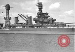 Image of USS Colorado (BB-45) maneuvering to Berth F-12A Pearl Harbor Hawaii USA, 1942, second 26 stock footage video 65675061843
