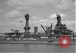 Image of USS Colorado (BB-45) maneuvering to Berth F-12A Pearl Harbor Hawaii USA, 1942, second 29 stock footage video 65675061843