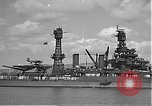 Image of USS Colorado (BB-45) maneuvering to Berth F-12A Pearl Harbor Hawaii USA, 1942, second 30 stock footage video 65675061843