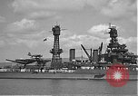 Image of USS Colorado (BB-45) maneuvering to Berth F-12A Pearl Harbor Hawaii USA, 1942, second 31 stock footage video 65675061843