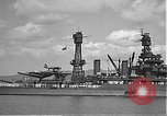 Image of USS Colorado (BB-45) maneuvering to Berth F-12A Pearl Harbor Hawaii USA, 1942, second 33 stock footage video 65675061843