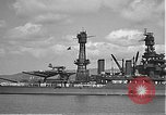 Image of USS Colorado (BB-45) maneuvering to Berth F-12A Pearl Harbor Hawaii USA, 1942, second 34 stock footage video 65675061843