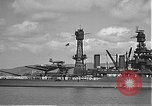 Image of USS Colorado (BB-45) maneuvering to Berth F-12A Pearl Harbor Hawaii USA, 1942, second 35 stock footage video 65675061843