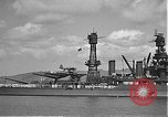Image of USS Colorado (BB-45) maneuvering to Berth F-12A Pearl Harbor Hawaii USA, 1942, second 36 stock footage video 65675061843