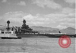 Image of USS Colorado (BB-45) maneuvering to Berth F-12A Pearl Harbor Hawaii USA, 1942, second 44 stock footage video 65675061843