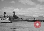 Image of USS Colorado (BB-45) maneuvering to Berth F-12A Pearl Harbor Hawaii USA, 1942, second 45 stock footage video 65675061843