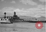 Image of USS Colorado (BB-45) maneuvering to Berth F-12A Pearl Harbor Hawaii USA, 1942, second 46 stock footage video 65675061843