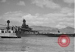Image of USS Colorado (BB-45) maneuvering to Berth F-12A Pearl Harbor Hawaii USA, 1942, second 47 stock footage video 65675061843