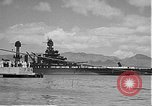 Image of USS Colorado (BB-45) maneuvering to Berth F-12A Pearl Harbor Hawaii USA, 1942, second 50 stock footage video 65675061843