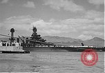 Image of USS Colorado (BB-45) maneuvering to Berth F-12A Pearl Harbor Hawaii USA, 1942, second 51 stock footage video 65675061843