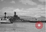 Image of USS Colorado (BB-45) maneuvering to Berth F-12A Pearl Harbor Hawaii USA, 1942, second 52 stock footage video 65675061843