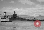 Image of USS Colorado (BB-45) maneuvering to Berth F-12A Pearl Harbor Hawaii USA, 1942, second 53 stock footage video 65675061843