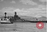 Image of USS Colorado (BB-45) maneuvering to Berth F-12A Pearl Harbor Hawaii USA, 1942, second 54 stock footage video 65675061843
