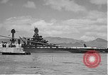 Image of USS Colorado (BB-45) maneuvering to Berth F-12A Pearl Harbor Hawaii USA, 1942, second 55 stock footage video 65675061843