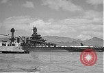 Image of USS Colorado (BB-45) maneuvering to Berth F-12A Pearl Harbor Hawaii USA, 1942, second 56 stock footage video 65675061843