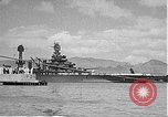 Image of USS Colorado (BB-45) maneuvering to Berth F-12A Pearl Harbor Hawaii USA, 1942, second 59 stock footage video 65675061843