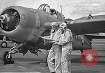 Image of LCDR John Thach and Lt. Edward O'Hare preparing for a flight Kaneohe Hawaii USA, 1942, second 9 stock footage video 65675061850