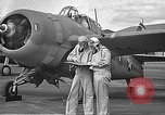 Image of LCDR John Thach and Lt. Edward O'Hare preparing for a flight Kaneohe Hawaii USA, 1942, second 15 stock footage video 65675061850