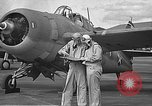 Image of LCDR John Thach and Lt. Edward O'Hare preparing for a flight Kaneohe Hawaii USA, 1942, second 17 stock footage video 65675061850