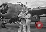 Image of LCDR John Thach and Lt. Edward O'Hare preparing for a flight Kaneohe Hawaii USA, 1942, second 19 stock footage video 65675061850