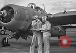 Image of LCDR John Thach and Lt. Edward O'Hare preparing for a flight Kaneohe Hawaii USA, 1942, second 20 stock footage video 65675061850