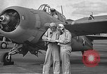 Image of LCDR John Thach and Lt. Edward O'Hare preparing for a flight Kaneohe Hawaii USA, 1942, second 23 stock footage video 65675061850