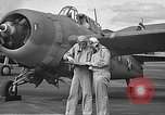 Image of LCDR John Thach and Lt. Edward O'Hare preparing for a flight Kaneohe Hawaii USA, 1942, second 24 stock footage video 65675061850