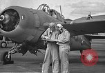 Image of LCDR John Thach and Lt. Edward O'Hare preparing for a flight Kaneohe Hawaii USA, 1942, second 25 stock footage video 65675061850