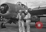 Image of LCDR John Thach and Lt. Edward O'Hare preparing for a flight Kaneohe Hawaii USA, 1942, second 29 stock footage video 65675061850
