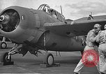 Image of LCDR John Thach and Lt. Edward O'Hare preparing for a flight Kaneohe Hawaii USA, 1942, second 36 stock footage video 65675061850
