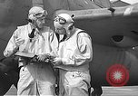 Image of LCDR John Thach and Lt. Edward O'Hare preparing for a flight Kaneohe Hawaii USA, 1942, second 47 stock footage video 65675061850
