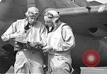 Image of LCDR John Thach and Lt. Edward O'Hare preparing for a flight Kaneohe Hawaii USA, 1942, second 51 stock footage video 65675061850