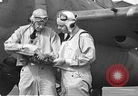 Image of LCDR John Thach and Lt. Edward O'Hare preparing for a flight Kaneohe Hawaii USA, 1942, second 61 stock footage video 65675061850
