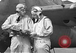 Image of LCDR John Thach and Lt. Edward O'Hare preparing for a flight Kaneohe Hawaii USA, 1942, second 62 stock footage video 65675061850