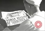 Image of United States sailors learn about end of World War II Hawaii USA, 1945, second 18 stock footage video 65675061871