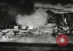 Image of Pearl Harbor attack from Japanese perspective Pearl Harbor Hawaii USA, 1941, second 32 stock footage video 65675061872