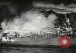 Image of Pearl Harbor attack from Japanese perspective Pearl Harbor Hawaii USA, 1941, second 34 stock footage video 65675061872