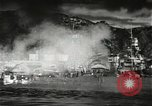 Image of Pearl Harbor attack from Japanese perspective Pearl Harbor Hawaii USA, 1941, second 35 stock footage video 65675061872