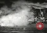 Image of Pearl Harbor attack from Japanese perspective Pearl Harbor Hawaii USA, 1941, second 38 stock footage video 65675061872